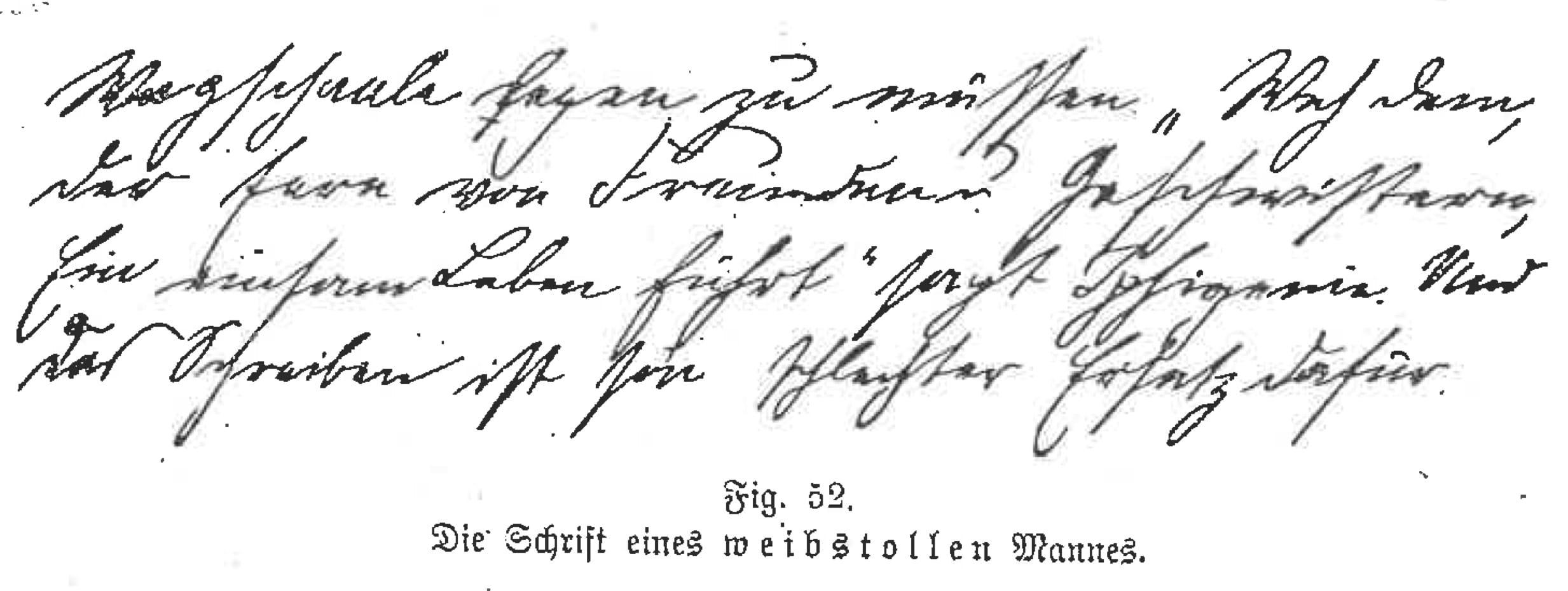"""Die Handschrift eines """"Weiberschmeckers"""""""
